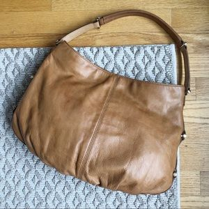 Liz Claiborne real leather studded hobo